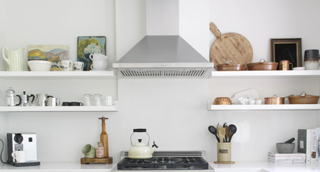 Determine the mounting height for your range hood