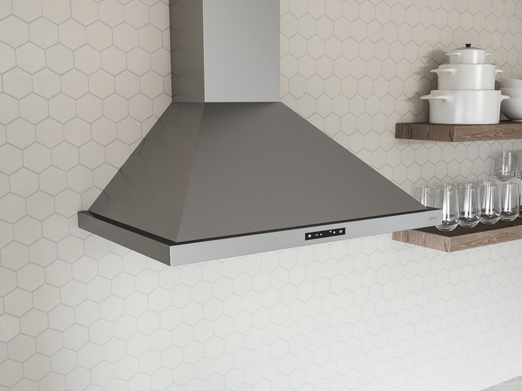 ZOM-B Zephyr Ombra Wall Range Hood, stainless steel