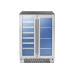 French Door Dual Zone Wine & Beverage Cooler model PRWB24C32BG