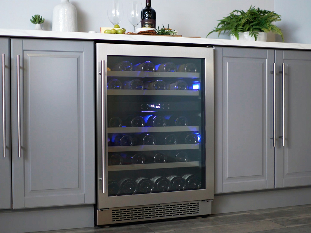 dual zone wine cooler zephyr presrv dual zone wine cooler 31169