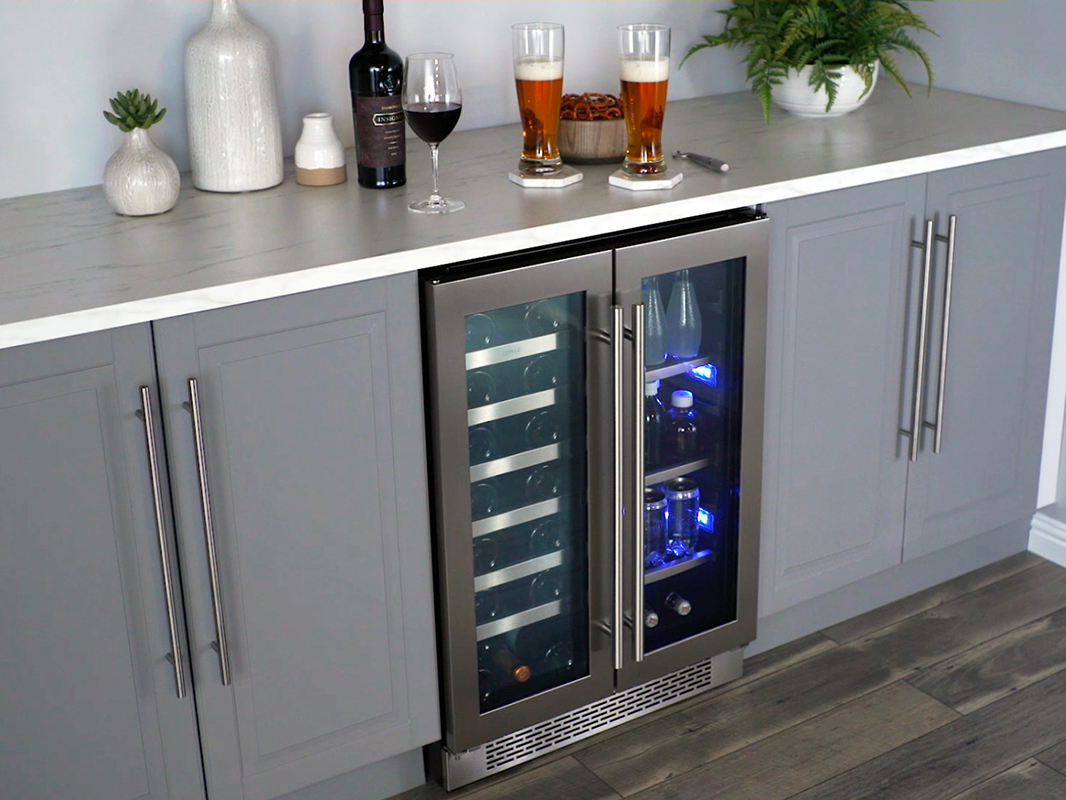 Zephyr Presrv Dual Zone French Door Wine Amp Beverage Cooler