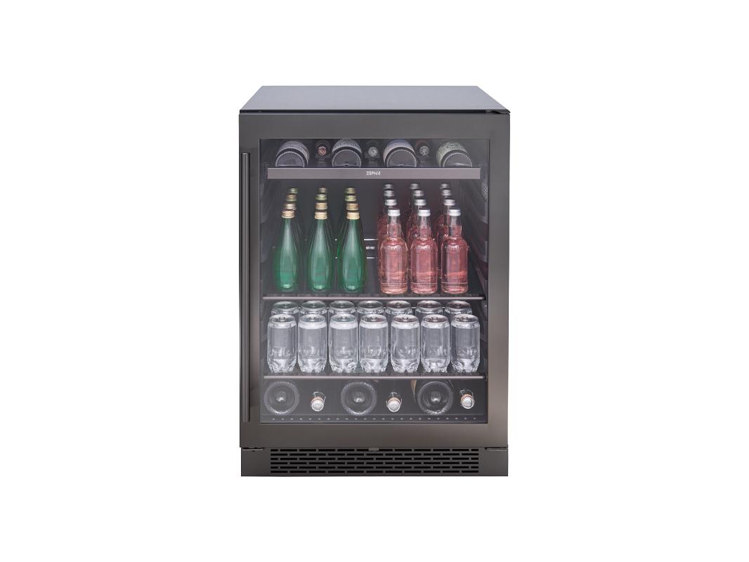 Zephyr Presrv™ Single Zone Beverage Cooler in Black Stainless Steel
