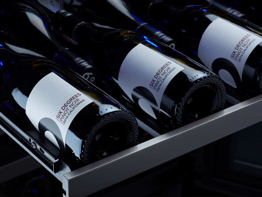 Dual Zone Wine Cooler - Black Stainless | Zephyr Ventilation