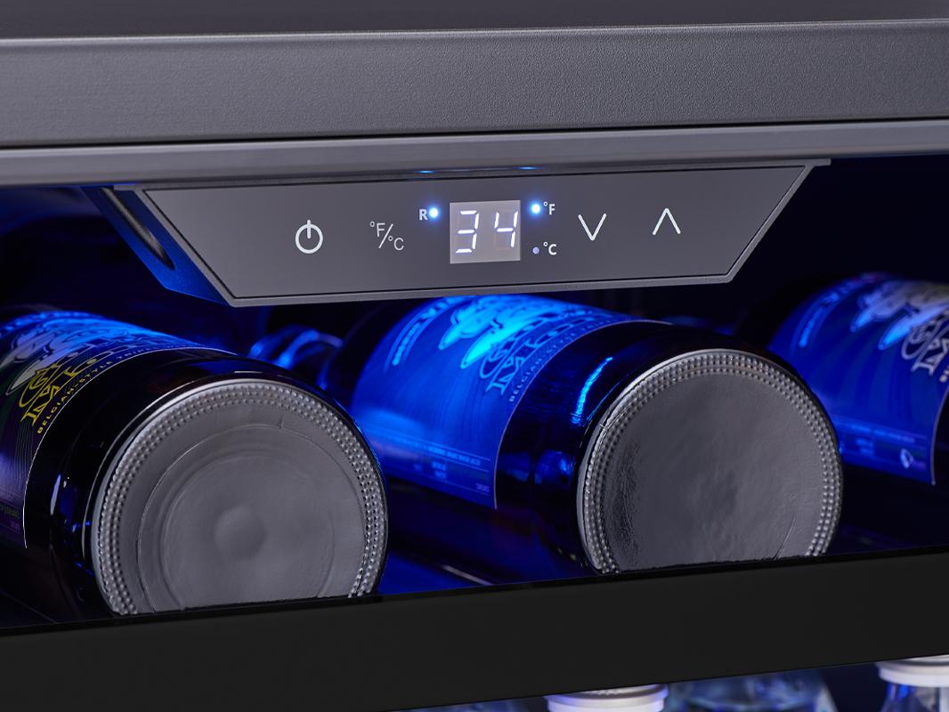 Zephyr Presrv™ Outdoor Single Zone Beverage Cooler Display Controls