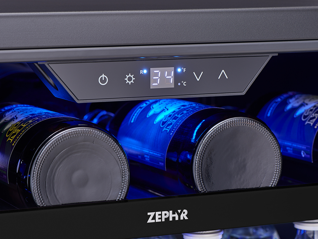 Zephyr Presrv™ Panel Ready Single Zone Beverage Cooler Display Controls