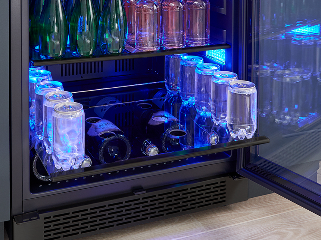 Zephyr Presrv™ Panel Ready Single Zone Beverage Cooler Gray Glass Shelves With Airflow Openings