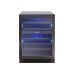 Black Stainless Dual Zone Wine Cooler model PRW24C02BBSG