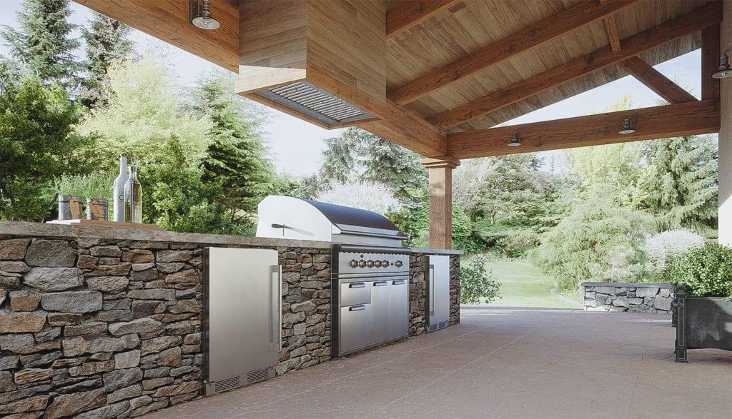 Zephyr Spruce Insert Outdoor kitchen vent and Zephyr Outdoor Beverage Cooler