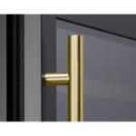 PRHAN-C102 Contemporary Door Handle in Brushed Gold for Presrv™ Black Stainless Wine & Beverage Coolers