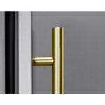 PRHAN-C102 Contemporary Door Handle in Brushed Gold for Presrv™ Outdoor Beverage Cooler