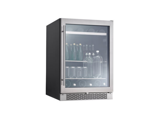 PRB24C01BS - Zephyr Presrv™ Single Zone Beverage Cooler with Retractable Quarter-Shelf