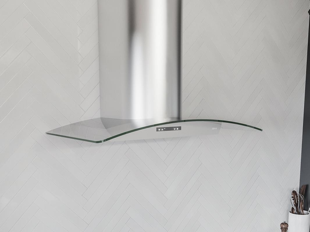 ZMI - Zephyr Milano Wall Range Hood with Glass Canopy