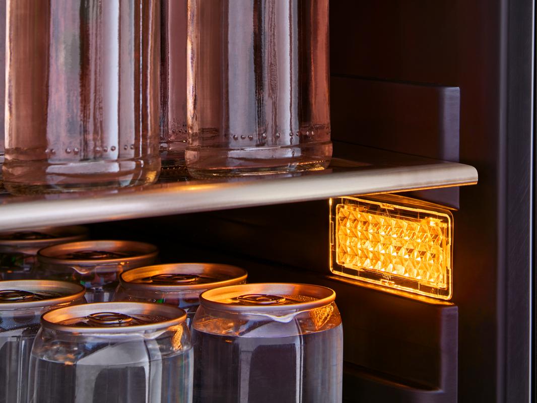 PRB24F01AS - Zephyr Presrv™ Full Size Beverage Cooler amber LED lighting