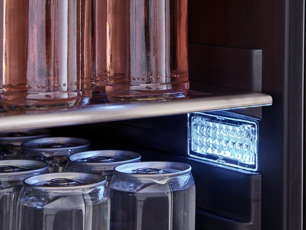 PRB24F01AS - Zephyr Presrv™ Full Size Beverage Cooler, Cloud White LED lighting