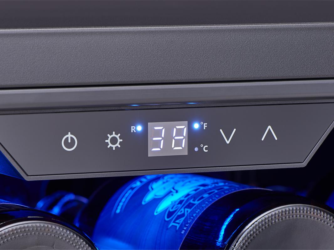 PRB24F01AS - Zephyr Presrv™ Full Size Beverage Cooler, controls