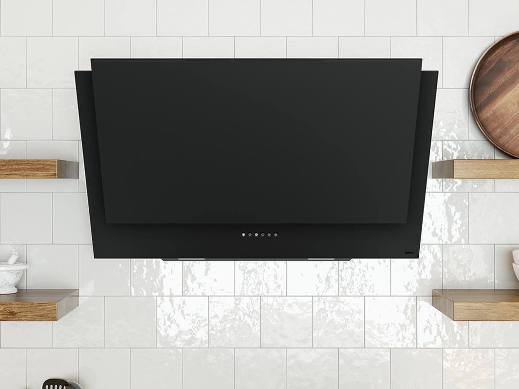 DAP-A Zephyr Apex Wall Range Hood in matte black