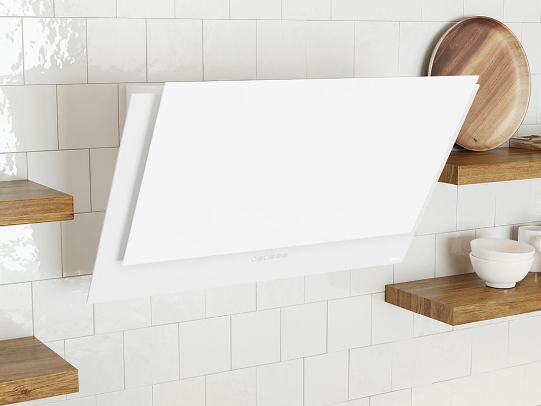DAP-A Zephyr Apex Wall Range Hood in matte white