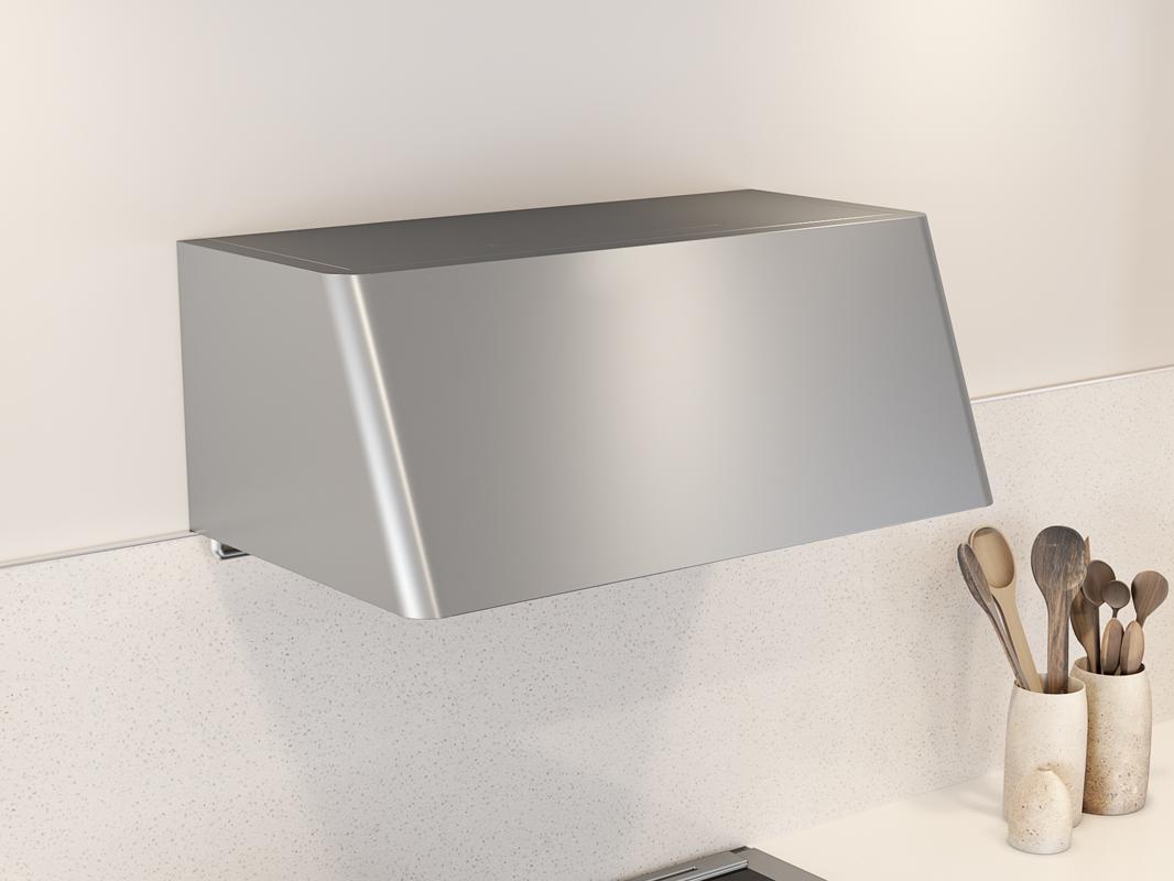 DME-A Zephyr Mesa Wall Range Hood in stainless steel